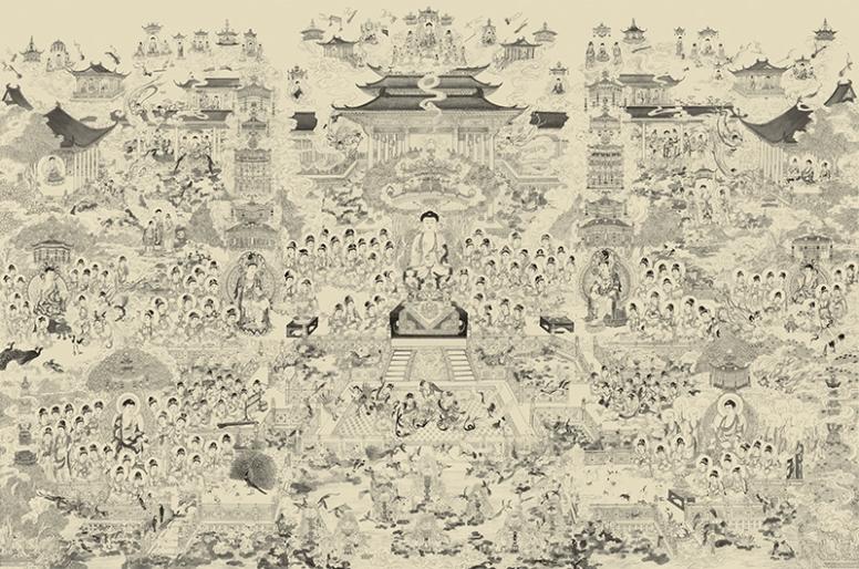 Liên Trì Hải Hội, lien tri hai hoi, Cực Lạc Diệu Quả Đồ, cuc lac dieu qua do